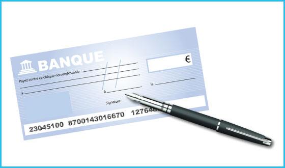 Cogolin PC - Règlement par chèque